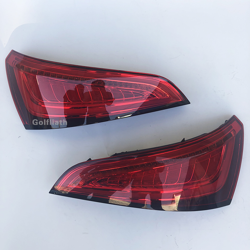 For Audi Q5 2009-2015 LED Tail Lamp Car Styling Taillight Tail Lights Rear Trunk Lamp Cover Drl+signal+brake+reverse