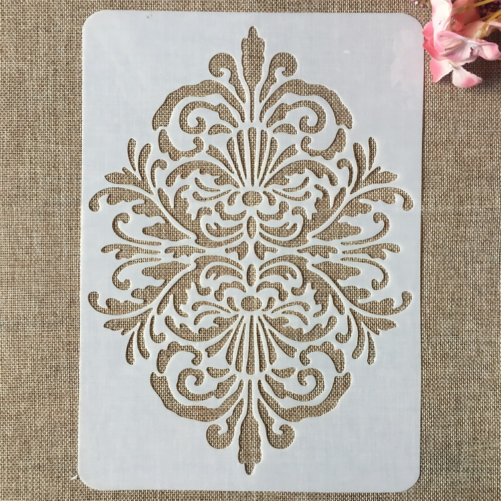 29cm A4 Vintage Floral Edge DIY Layering Stencils Wall Painting Scrapbook Coloring Embossing Album Decorative Template