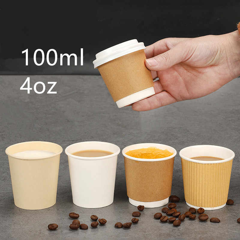 Disposable Coffee Cup 4oz Wine Milk Tea