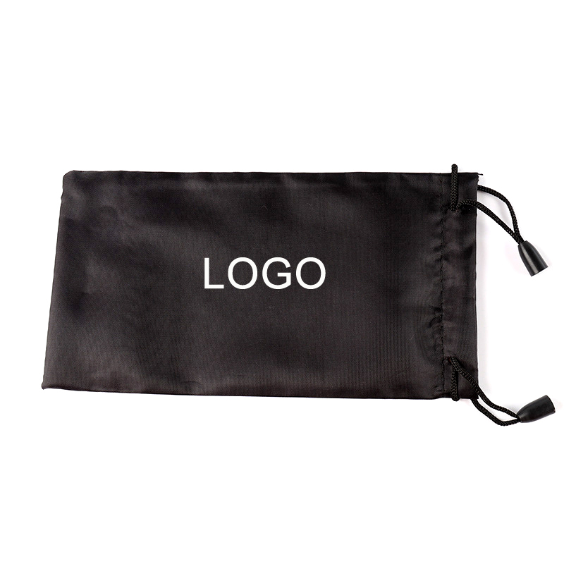 10pcs/bag 18x9cm Black Sunglasses Pouch Women Men Cloth Bag Sunglasses Case Protector Container Support Customized Eyewear LOGO