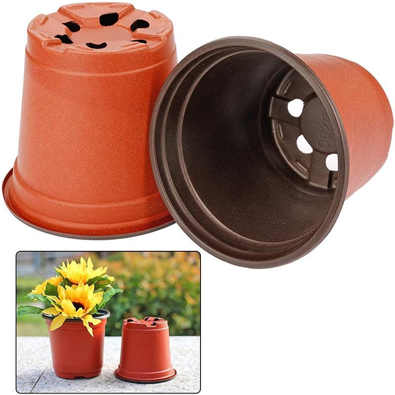 130 Pcs 10cm Plastic Plants Nursery Seed Starting Pots for Succulents Seedlings Cuttings Transplanting Home Garden Flower Decor 2