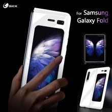 GKK etui z klapką do Samsung Galaxy Fold Case Anti knock 360 pełna ochrona ultra cienka matowa twarda okładka do Samsung Fold Coque