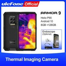 Ulefone – téléphone portable robuste Armor 9, caméra dimagerie thermique FLIR®Smartphone Android 10, 128 go, Helio P90, 6600mAh, 64mp, téléphone portable