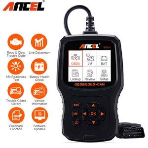Image 1 - Ancel EU510 OBD2 escáner lector de código de motor Auto control de batería scaner automotriz ODB OBD 2 escáner automotriz herramienta de diagnóstico de coche PK ELM327 v1.5