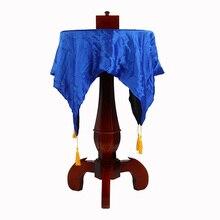 둥근 조각 된 플로팅 테이블 (반 중력 상자 + 꽃병 + 촛대) 무대 매직 트릭 마술사 환상 기교 비행 magia 재미