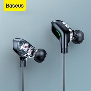 Baseus GAMO C18 Тип C Игровые наушники с цветовой моделью RGB светильник с наушным креплением проводной In-ear бас стерео наушники для PS4 компьютерного ...