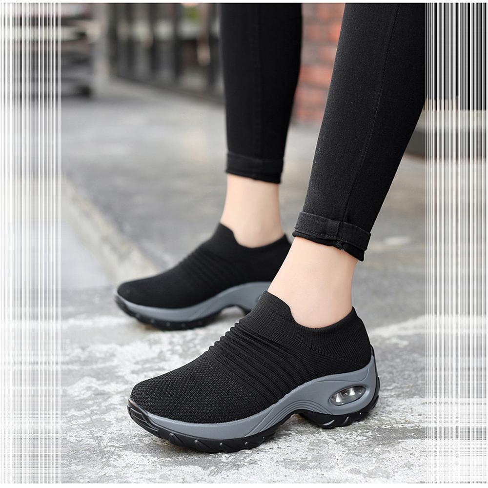 Comfortable Shoes Vulcanized-Shoes Platform Mesh Summer Sneakers Slip-On Flat Women Ladies