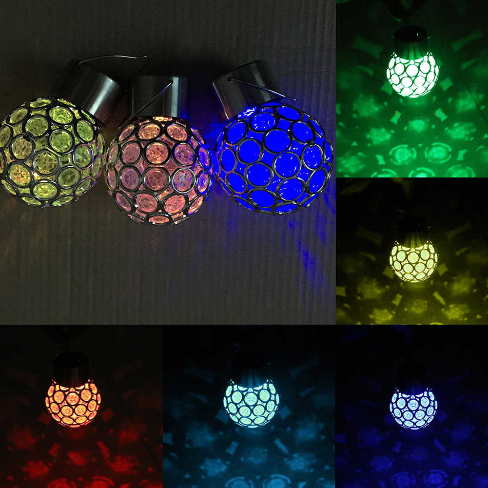 Солнечный свет Изменение шар Сад Подвесная лампа открытый пейзаж светодиодный светильник дорожка украшение дома