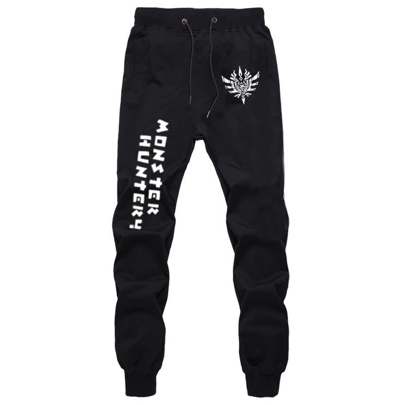 Monster Hunter Leggings Mens Pants Sports Pants Jogger Trousers Women/Men Casual Trousers Cotton Unisex Black Full Length Pants