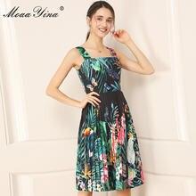 Модное дизайнерское платье moaayina летнее женское на бретелях