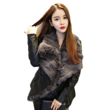 Short Jacket Winter Coat Parka Rabbit-Fur Ladies New And Autumn Cotton Slim NS765 Female