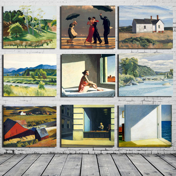 Edward Hopper Wall Art Paintings Printed on Canvas 1