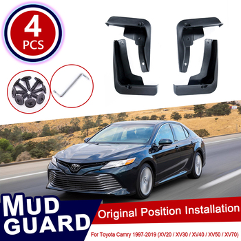 For Toyota Camry XV20 XV30 XV40 XV50 XV70 20 30 40 50 70 1997~2019 Car Mud Flaps Mudguard Splash Guards Fender Mudflaps Flap фото