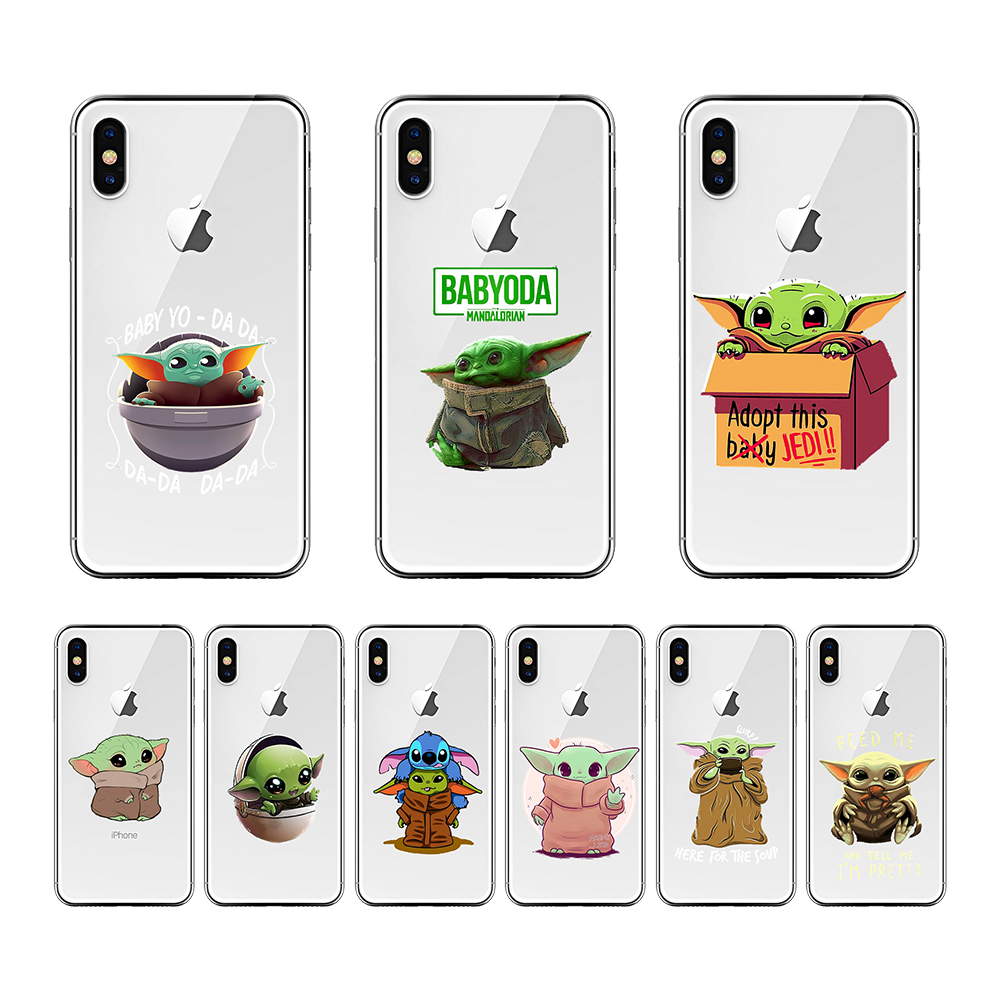 Cute Baby Yoda baby stitch cartoon Soft Silicone Phone Case Shell For iPhone 11 pro Xs Max 5S 6 6S Apple7 8 Plus X XS XR Case