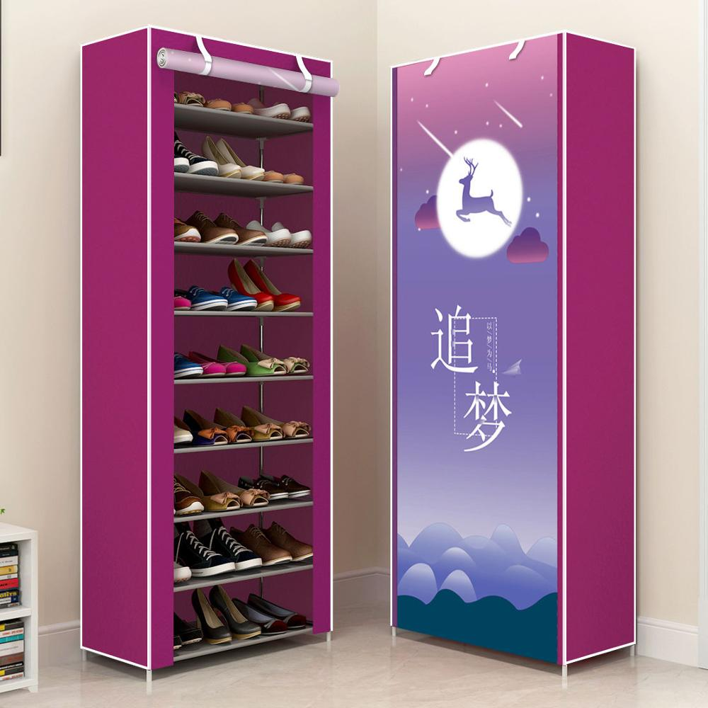 Multilayer Shoe Rack Non-woven Cover Shoe Cabinets Amazing Shoe Storage Holder Furniture Space Saving Shoes Maker Organizer Rack
