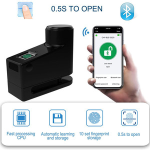 Fingerprint Disc Brake Lock Bi