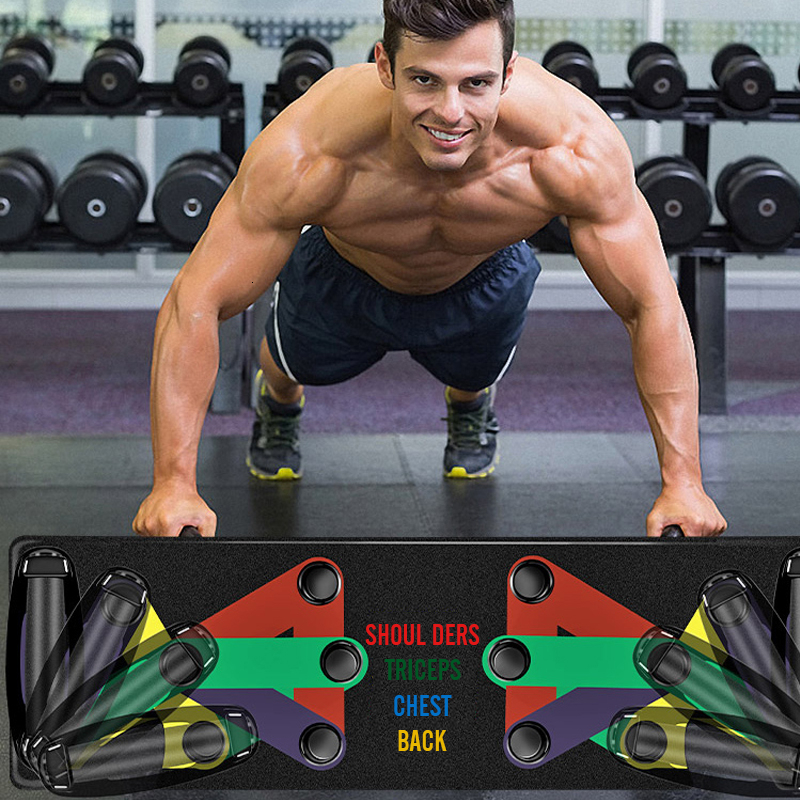 H9eea237f98934de38d1edfd5d1c9f972k - 9 In 1 Push Up Rack Board Men Women Comprehensive Fitness Exercise Push-up Stands Body Building Training System Gym Equipment