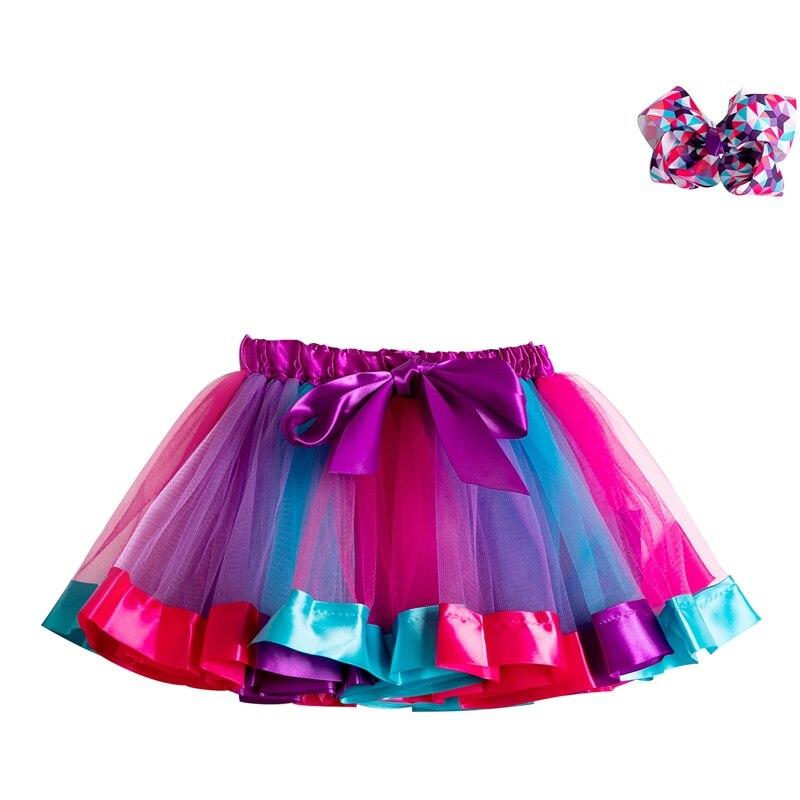 Летняя юбка-пачка; юбки для маленьких девочек; мини-юбка принцессы для дня рождения; Радужная юбка с единорогами; Одежда для девочек; одежда для детей - Цвет: 2