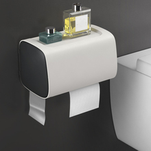 цена на Wall Mount Toilet Paper Holder with 1 Roll Paper Bathroom Toilet Tissue Holder Storage Box Waterproof Toilet Paper Tray Shelf