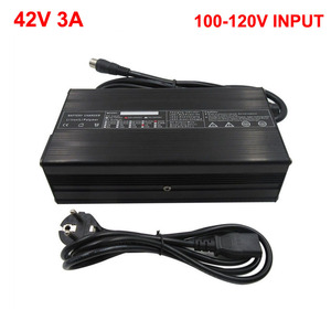 Image 1 - 42V 3A Li ion Charger Input 110V for 36 Volt 10S Lithium Electric Bike Bicycle Scooter Battery Pack Charge XT60 RCA DC
