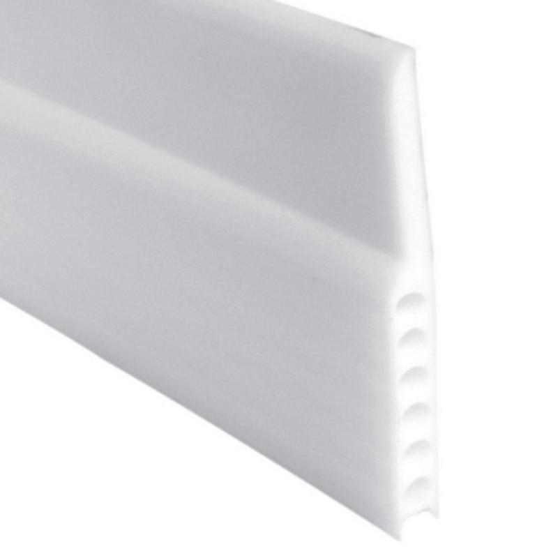 1 Uds. Autoadhesivo de silicona parte inferior de la ventana de la puerta cinta de sellado de goma 3m aislamiento de sonido Tira autoadhesiva 3D decoración de pared Marco de espuma tira con adhesivo línea de cintura papel pintado a prueba de agua placa de base pegatina de pared
