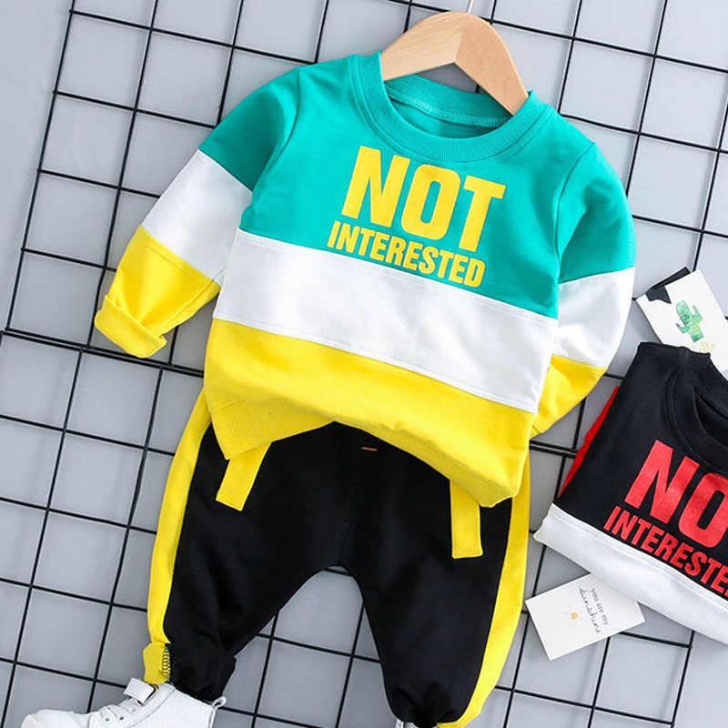 Bär Führer Mode Kleinkind Baby Kind Junge 2PCS Outifit Set New Leaf Print Kurze T-shirt Solide Hosen Gentelman kleidung Set