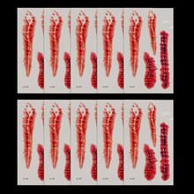 D Halloween Removable 3D Scary Zombie Tattoo Costume MakeUp Blood Injury Wound