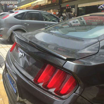Fit For Ford Mustang Spoiler 2015 2016 2017 Mustang Car Decoration High Quality Black Carbon Fiber  Rear Wing Spoiler