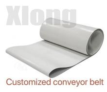 2pcs 1500x80x2mm PVC White Transmission Conveyor Belt Industrial Belt Flat line Food Grade Belt