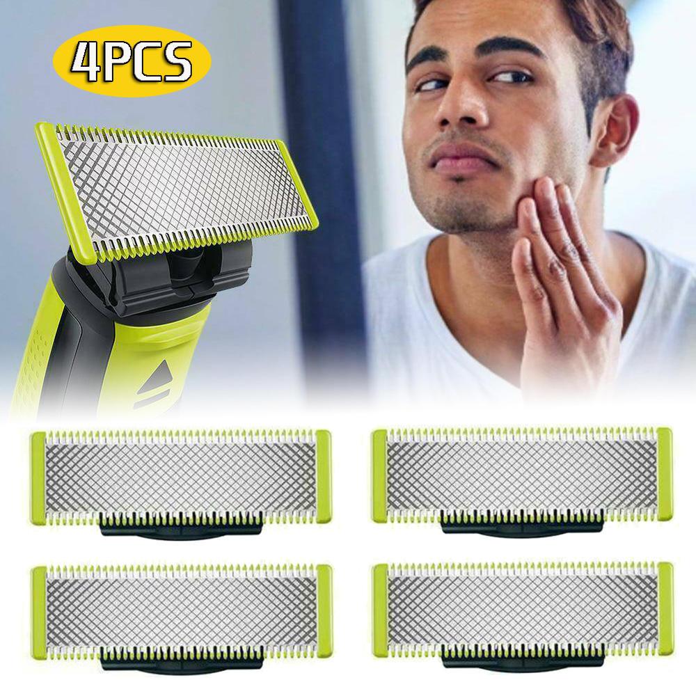 4 шт. в упаковке Сменное лезвие для Philips OneBlade бритвы Безопасность нержавеющая сталь сменные лезвия для бритвы бритвенная головка Бритва для ...