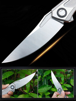 Titanium alloy folding knife S35V survival knife self-defense knife survival tool 5