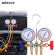 Manifold-Gauge Refrigeration-Set Air-Conditioning-Tools R404A R134A R22 with Hose-And-Hook