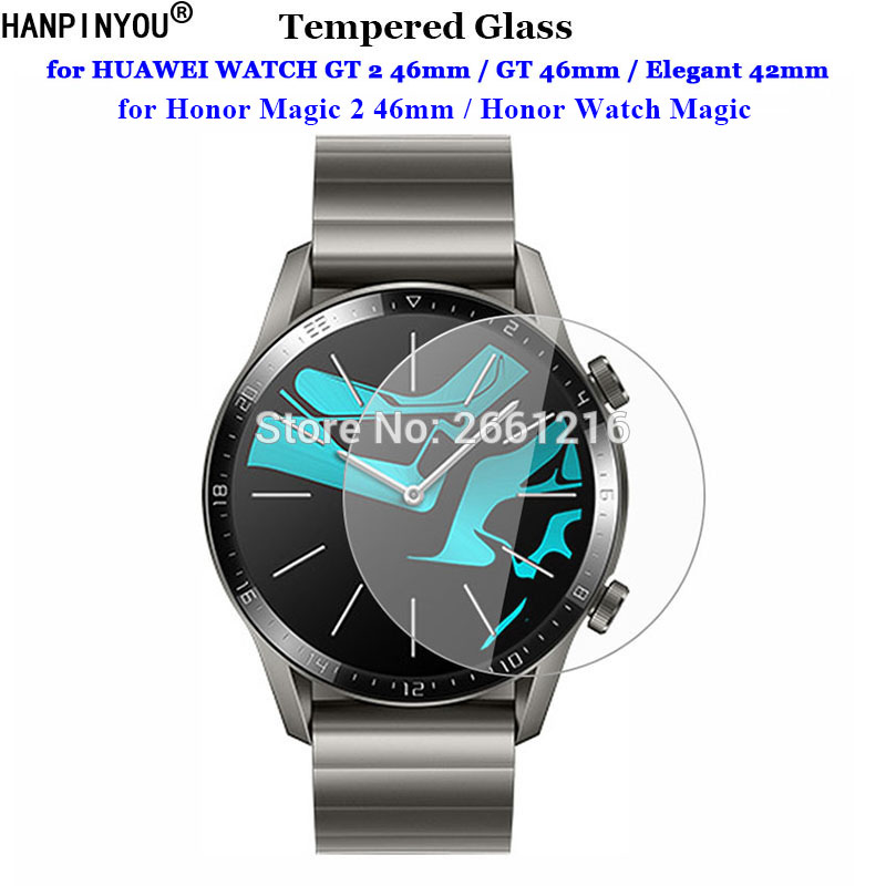 For HUAWEI WATCH GT 2 GT2 Honor Magic 2 46mm S1 Elegant 42mm Watch 1 2 Pro Tempered Glass 9H 2.5D Premium Screen Protector Film(China)