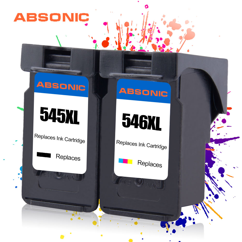 PG545XL CL546XL Replaces for <font><b>Canon</b></font> Printer Ink Cartridge PG 545 CL 546 for Pixma MG2950 MG2550 MG3050 MG2450 MG3051 MX495 2PCS image