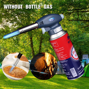 Welding Torch Baking Welding Tool Gas Flamethrower Butane Burning Igniter Camping Outdoor Hiking Cooking Gas Survival Flame Gun