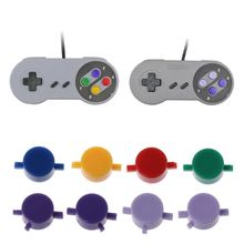 1Set Plastic Buttons A B X Y Replace For Nintendo SFC SNES Super NES Controller 2pcs 1 8m cable adapter converter for super nes nes controller to nes mini classic system for fc9 sfc snes 7 needle controller