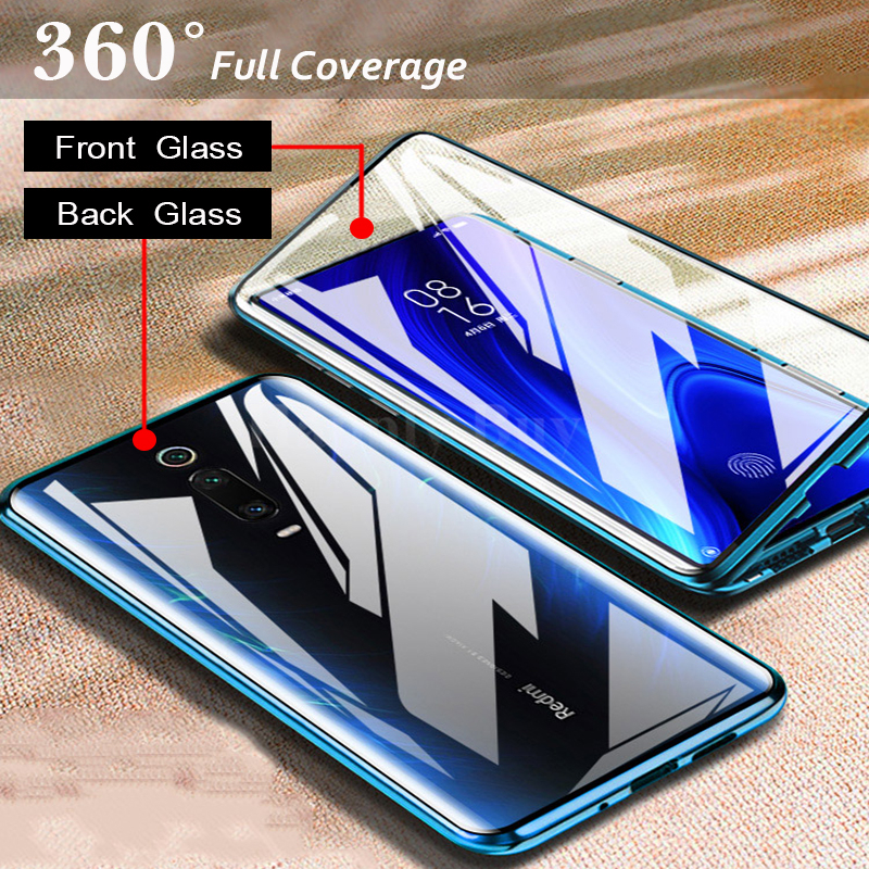 Magnetic Absorption Double Sided Safety Glass for Xiaomi Mi 9T 9TPro Phone Case Cover For Xiaomi9T Mi9T Pro Mi9TPro 2019 Coque image