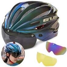 Gub Сверхлегкий велосипедный шлем с магнитными очками для мужчин