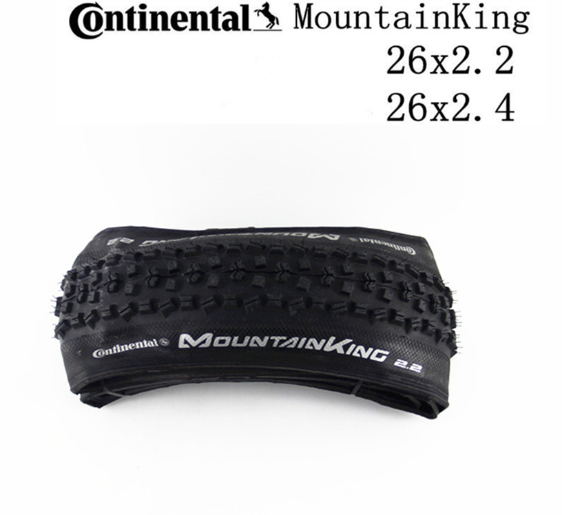 Continental MTB bicycle Tyre Mountain King Tire MTB bike <font><b>26x2.2</b></font> 26x2.4 in Tubular Tire MTB Folding Tyre Black image