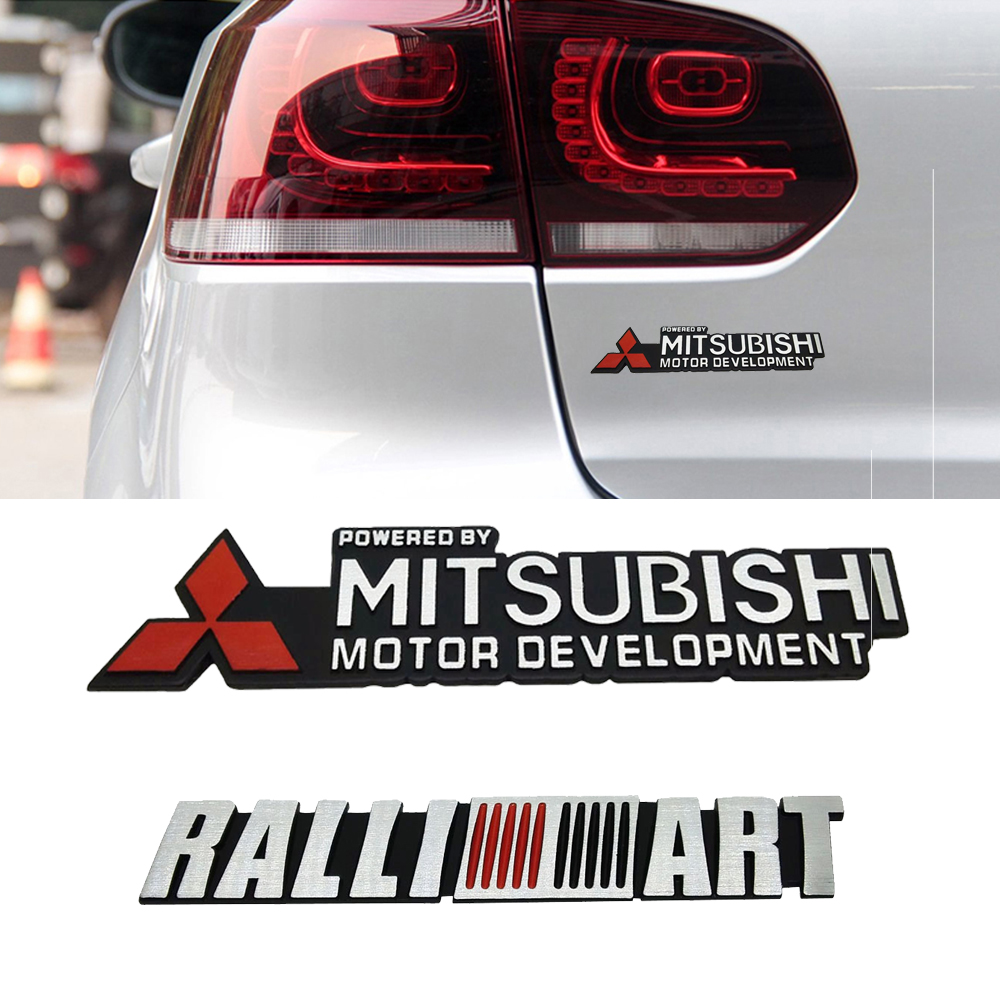 For Mitsubishi RALLIART L200 Outlander ASX Lancer Pajero Eclipse Galant Car Side Sticker Decal Emblem Fender Durable Accessories