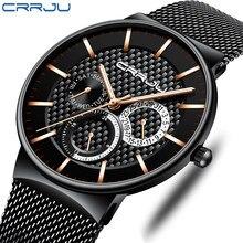 Relogio Masculino CRRJU Top marka luksusowa moda zegarek mężczyźni 30ATM wodoodporna data zegar zegarki sportowe męskie zegarek kwarcowy