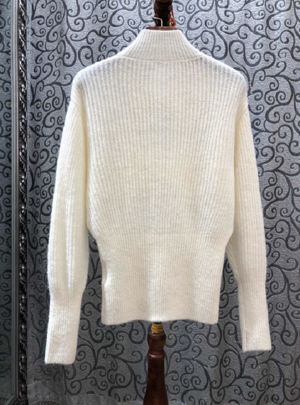 2019 Otoño Invierno moda jerseys mujeres lazo elegante manga larga lana punto suéteres negro Beige caqui jerseys señoras - 2