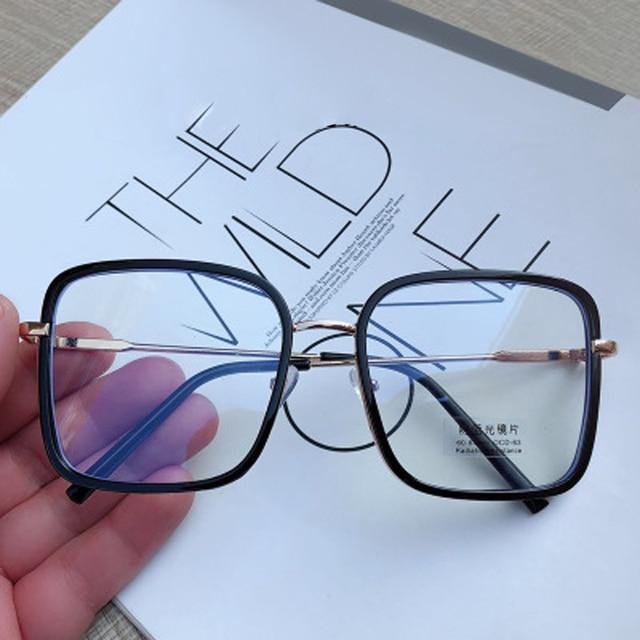 Big Frame Square Anti-blue Light Glasses Frame Oversized Computer Eyewear Frame For Women&Men Square Optical Glasses Eyeglasses 4
