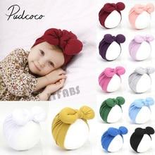 Аксессуары для детских вещей, головная повязка для новорожденных, хлопковая шапка для маленьких девочек и мальчиков, тюрбан для младенцев, повязка на голову с узлом для девочек