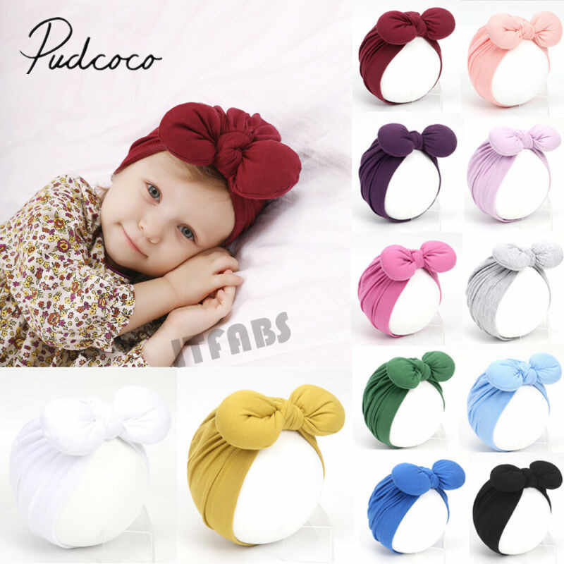 2019 Baby Stuff Accessories Newborn Headband Hat Cotton baby Girls Boys Infant Turban Knot Headband Head Wrap For Girls