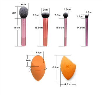 2019 NEW Make up Brushs 1-3-4-5-6-7pcs Maquillage Real Techniques Makeup Brushs Powder Loose Box Belt foundation brush 2
