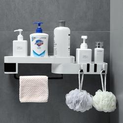 Obracać stojak do przechowywania uchwyty szczoteczki do zębów akcesoria łazienkowe zestaw prysznic darmowa wykrawania ściany do organizer do kuchni półka wisząca w Półki i stojaki od Dom i ogród na
