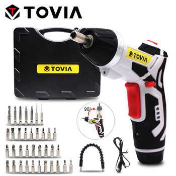 TOVIA 3.6V Cordless Screwdriver LED Light Electric Screwdriver Drill Lithium Accumulators Screwdriver Rechargeable Power Tool - DISCOUNT ITEM  35 OFF Tools