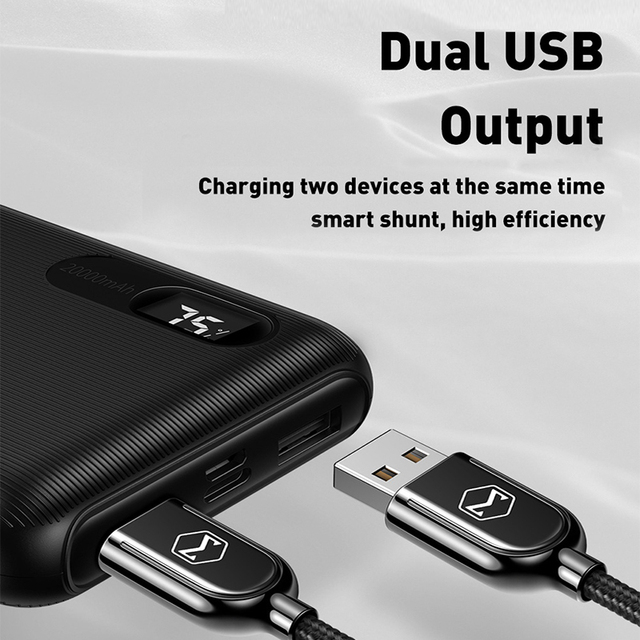Mcdodo Power Bank 20000mAh Dual USB Fast Charge powerbank External Battery Bank For Xiaomi iPhone 11 Samsung LG Portable Charger 2