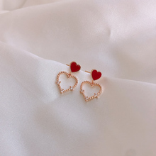 Fashion Earrings Heart Acrylic Statement Women Classic for Red